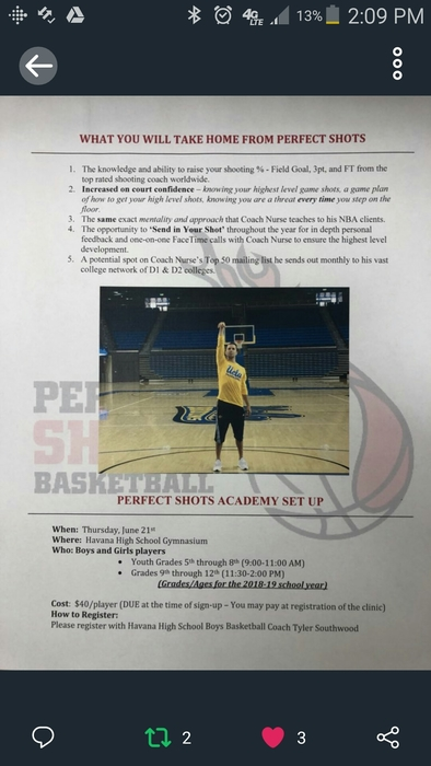 Perfect Shot Shooting Clinic