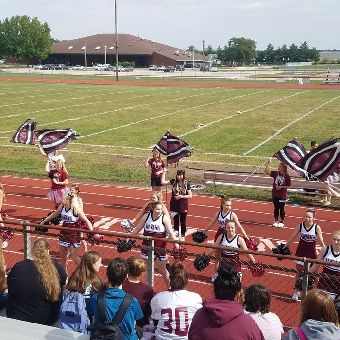 cheer and flags
