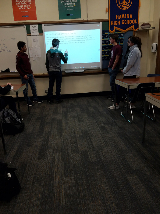Algebra 1 Honors students teaching the class
