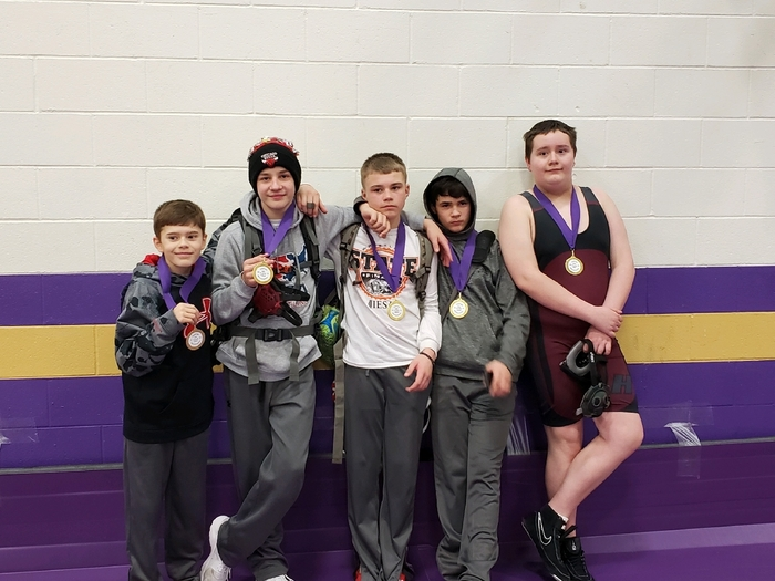 Canton tournament placers Zadan Cooper, Bryar Lane, Brayden Barner,Cash Welbourne, David Otto (missing from photo Jaylyn Thomas)