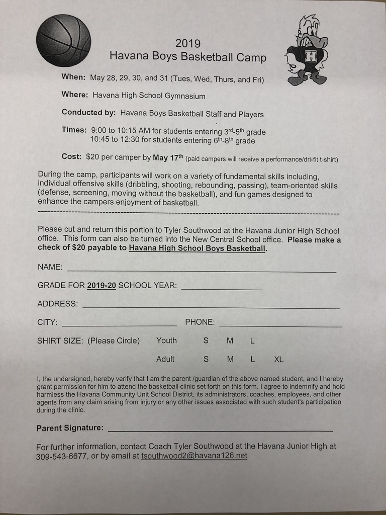 Boys Youth Camp Form