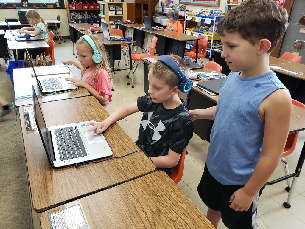 2nd graders are getting use to their Chromebooks.  They love using Epic, an online library where they can search for books on their favorite topics.